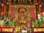 Mazu statue at Thien Hau Temple, Los Angeles