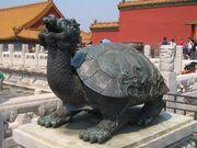 Dragon tortuga bronce ciudad prohibida