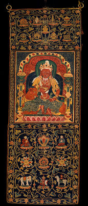 God of Fire, Agni, of the Medicine Buddha Mandala - Google Art Project