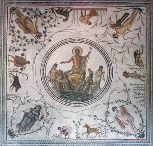 Neptune Roman mosaic Bardo Museum Tunis