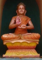 Buddha statue at Dwaraka Tirumala Temple 02