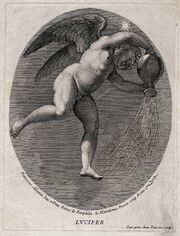 Lucifer (the morning star). Engraving by G.H. Frezza, 1704, Wellcome V0035916