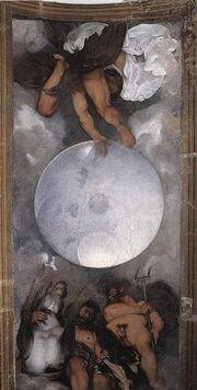 Caravaggio Jupiter Neptune Pluto vertical