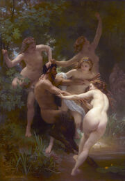 Nymphs and Satyr, by William-Adolphe Bouguereau
