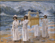 James Jacques Joseph Tissot - The Ark Passes Over the Jordan - Google Art Project