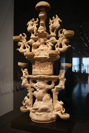 Lamp Representing the Realm of the Queen Mother of the West (1st–2nd century CE)