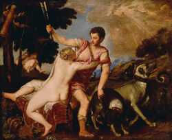 Titian (Tiziano Vecellio) (Italian - Venus and Adonis - Google Art Project