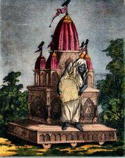 Goddess Dhumavati, One of the Mahavidya - Vintage Print b
