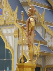 Guardian of Phra Meru Mas of Bhumibol Adulyadej - Vessavana (left side)