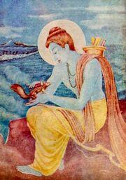 An early 20th century Hindu deity Rama painting