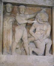 DSC00401 - Tempio C di Selinunte - Perseo e Medusa - Sec. VI a.C. - Foto G. Dall'Orto crop