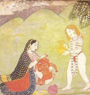 Ganesha Kangra miniature 18th century Dubost p51