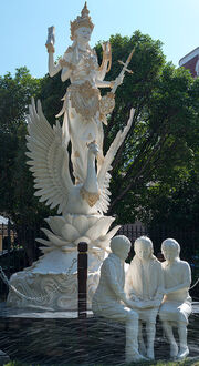 Saraswati Sarasvati Swan Sculpture (1)