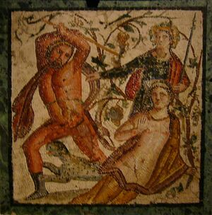 Mosaik -Wahnsinn des Lykurg- — Exponat in der Archäologischen Staatssammlung München