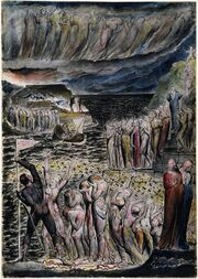 The Vestibule of Hell and Souls Mustering to Cross the Acheron Blake