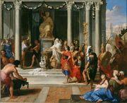 Auguste fait fermer les portes du Temple de Janus - Louis de Boullogne le Jeune