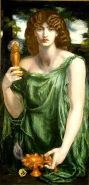 Mnemosyne (color) Rossetti