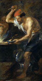 Rubens - Vulcano forjando los rayos de Júpiter