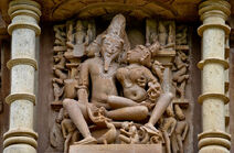 800px-Brahma and his consort