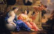 Simon Vouet - The Muses Urania and Calliope