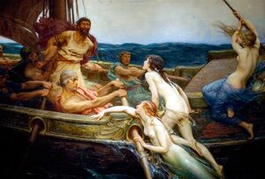 Ulysses and the Sirens by H.J. Draper