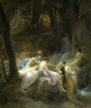 Charles François Jalabert - Nymphs Listening to the Songs of Orpheus - Walters 3737