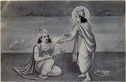 Indra gives Indrashakti to Karna