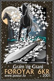 Faroe stamp 391 gram and grani