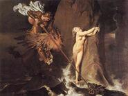 Jean Auguste Dominique Ingres - Roger Delivering Angelica