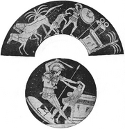 Achilles slaying Troilus