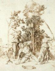 Dürer - Mort d'Orphée (1494)
