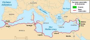 Rutas comerciales fenicias