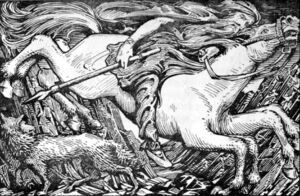Odin rides to Hel