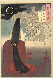 Yoshitoshi Mount Yoshino Midnight Moon