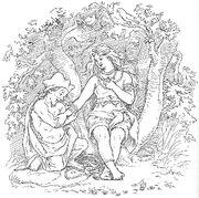 Alvíss and Þrúðr by Frølich