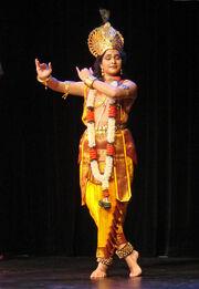 Flickr - dalbera - Danseuse de Kuchipudi jouant Krishna (musée Guimet)