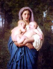 William-Adolphe Bouguereau (1825-1905) - Charity (1859)