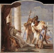 Giovanni Battista Tiepolo - Aeneas Introducing Cupid Dressed as Ascanius to Dido - WGA22337