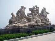 Estatua ocho inmortales