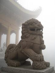 China emeishan lion