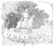 Víðarr on horseback by Lorenz Frølich