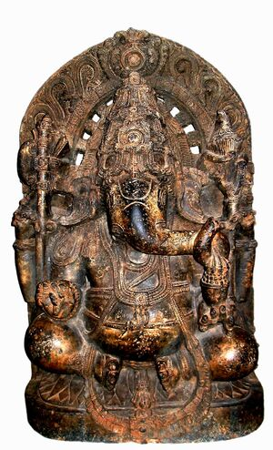 13th century Ganesha statue cleaned and colour adjusted