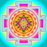 Tripura-sundari yantra color
