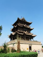 Qiufeng Tower in Wanrong Houtu Temple 03 2013-09