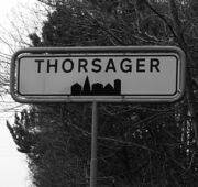 Thorsager-Denmark-city-limit-sign