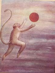 Hanuman Mistakes the Sun for a Fruit