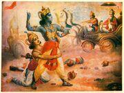 Srikrishna use weapon in Kurukshetra
