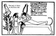 Osiris levantandose del féretro