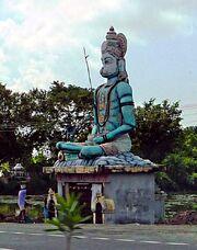Hanuman statue and shrine. South of Chennai
