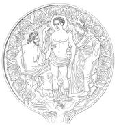 Espejo etrusco tuscania E. S. 1. 76